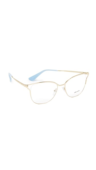 Prada Cinema Glasses - Pale Gold/Clear