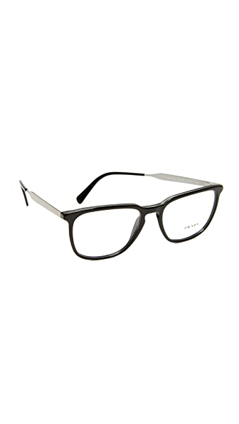 Prada Square Glasses - Black/Clear