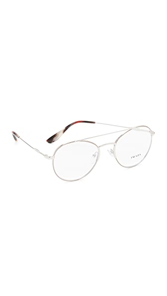 Prada Metal Brow Bar Glasses