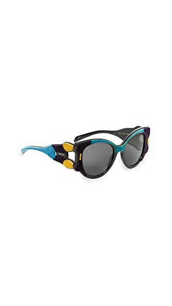 Prada Velvet Cat Eye Sunglasses at Shopbop