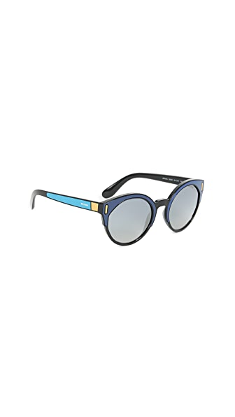 Prada Colorblock Sunglasses In Blue Multi/Blue