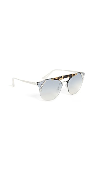 Prada Crystal Ornate Aviator Sunglasses at Shopbop