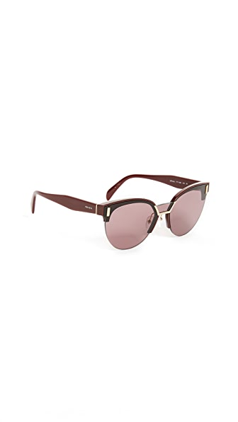 Prada Mod Evolution Sunglasses In Bordeaux/Violet