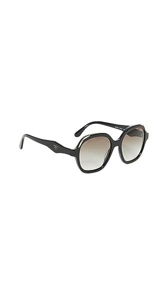 Prada Heritage Sunglasses In Black/Grey