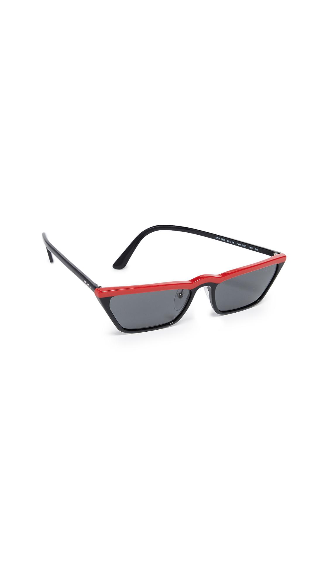 Prada Ultravox Sunglasses In Red Black/Grey