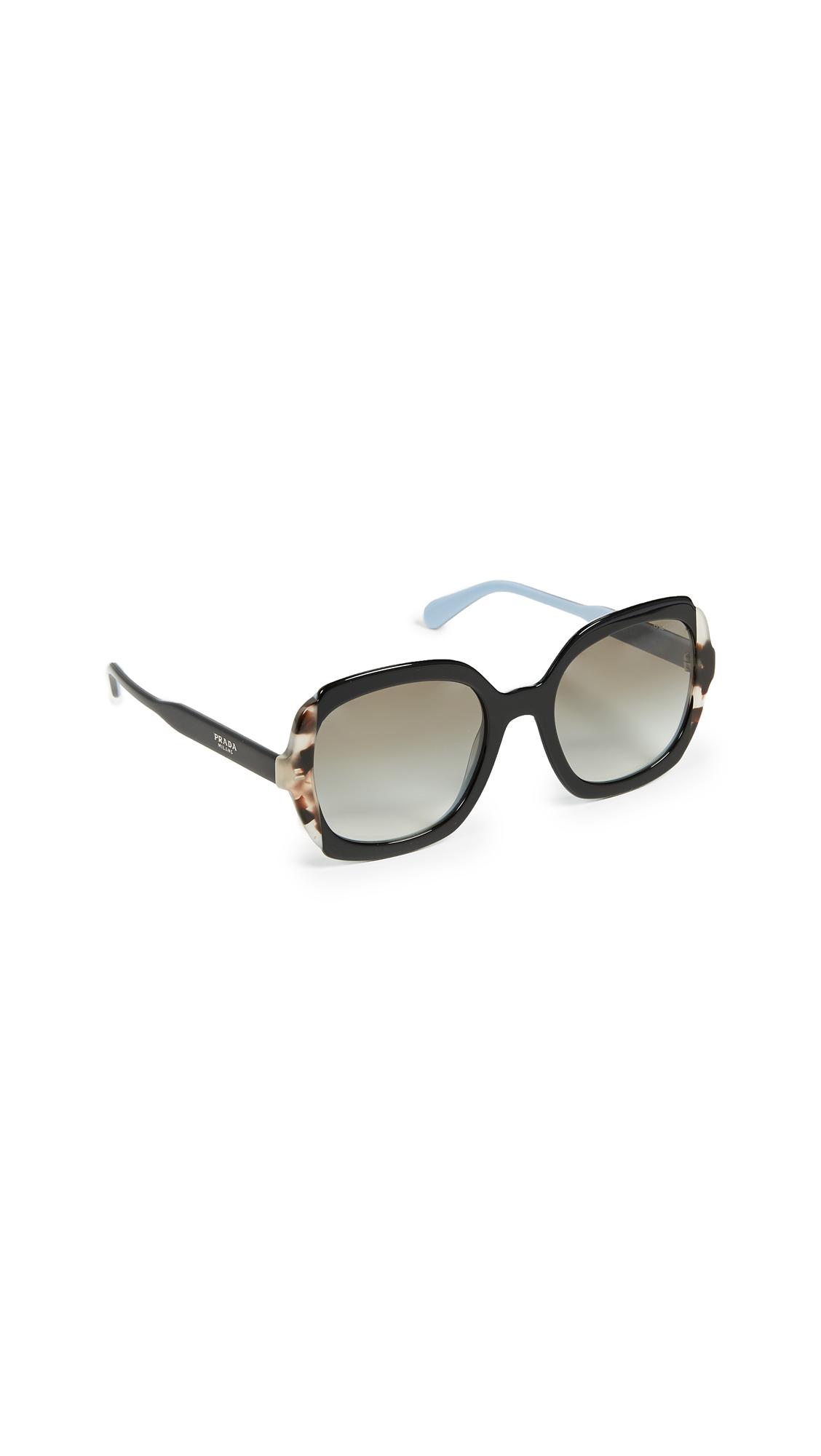 Prada Square Sunglasses In Black/Grey