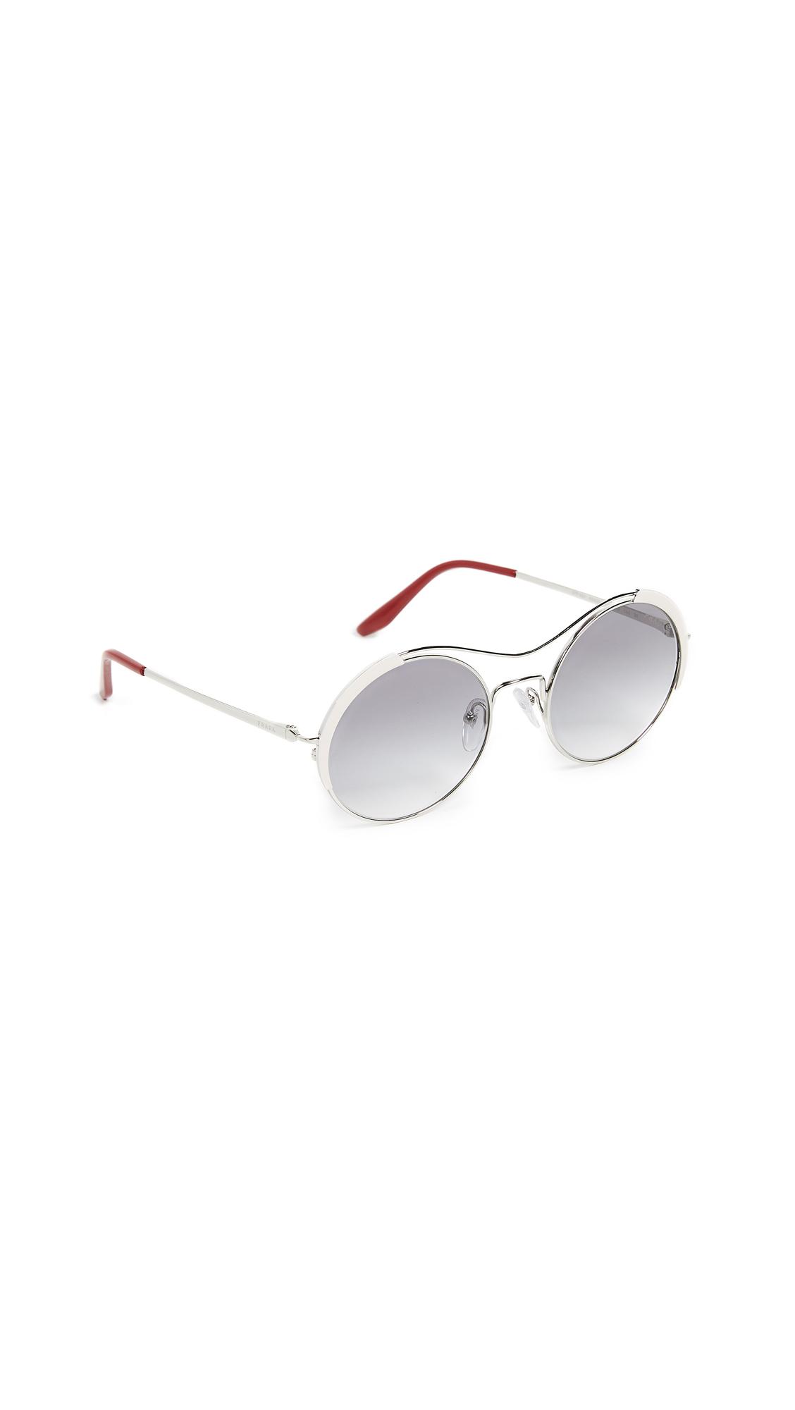 684b405de591 Prada PR 55VS Round Aviators Sunglasses