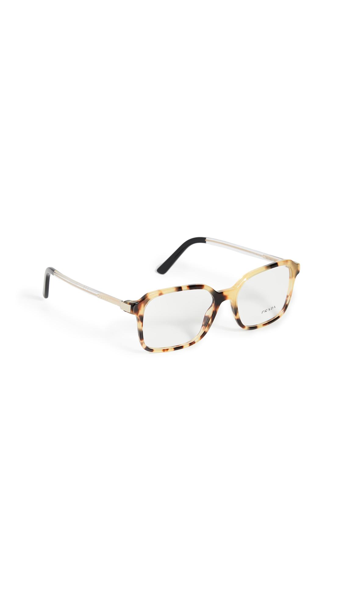 d3cc164018f3 Prada Classic Square Glasses In Medium Havana | ModeSens