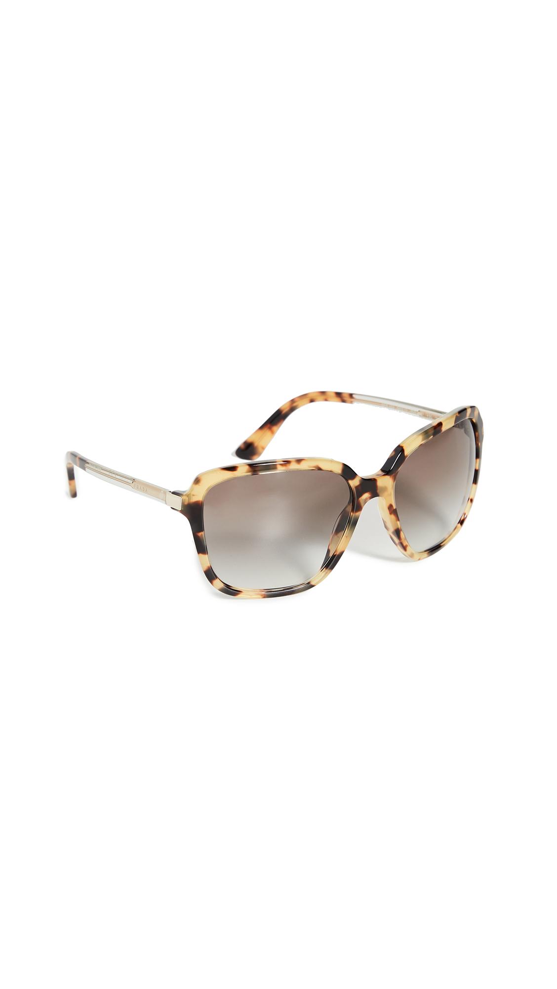 70dd9f3ed5aa Prada Oversized Square Sunglasses In Medium Havana | ModeSens