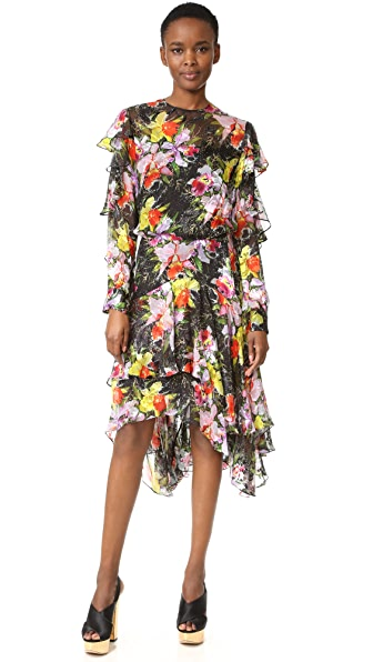 Preen By Thornton Bregazzi Cassidy Dress - Tin Flower