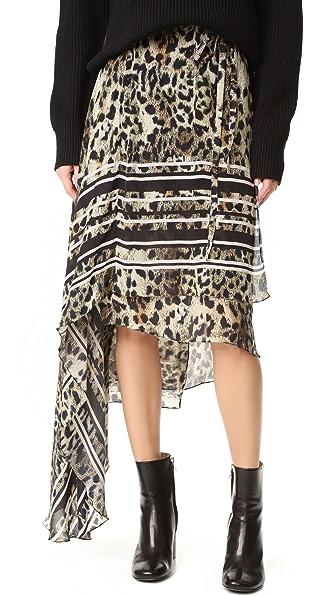 Preen By Thornton Bregazzi Preen Line Mannon Skirt - Leopard