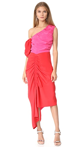 Preen By Thornton Bregazzi Nicole Dress In Red/Pink