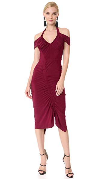 Preen By Thornton Bregazzi Clara Dress - Burgundy