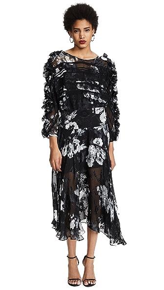 Ermin Printed Dress with Silk Chiffon
