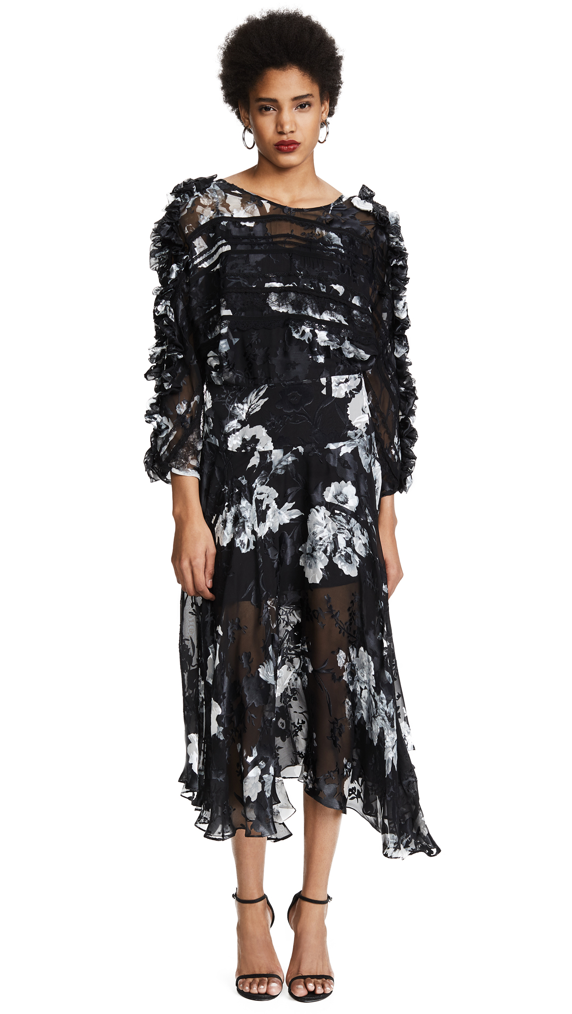 Preen By Thornton Bregazzi Ermin Dress with Black Silk Slip