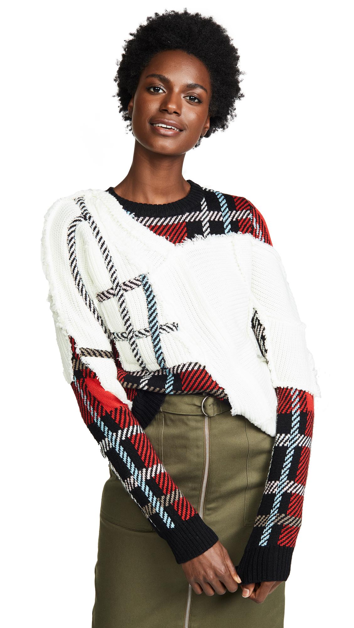 PREEN BY THORNTON BREGAZZI Rita Tartan Knit Sweater in Multicolour