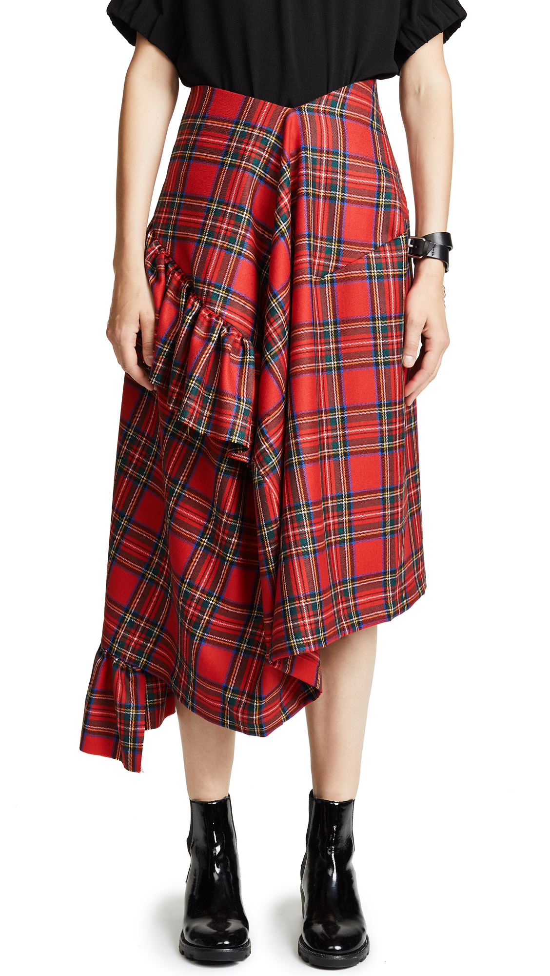 Preen By Thornton Bregazzi Morgan Plaid Skirt In Tartan
