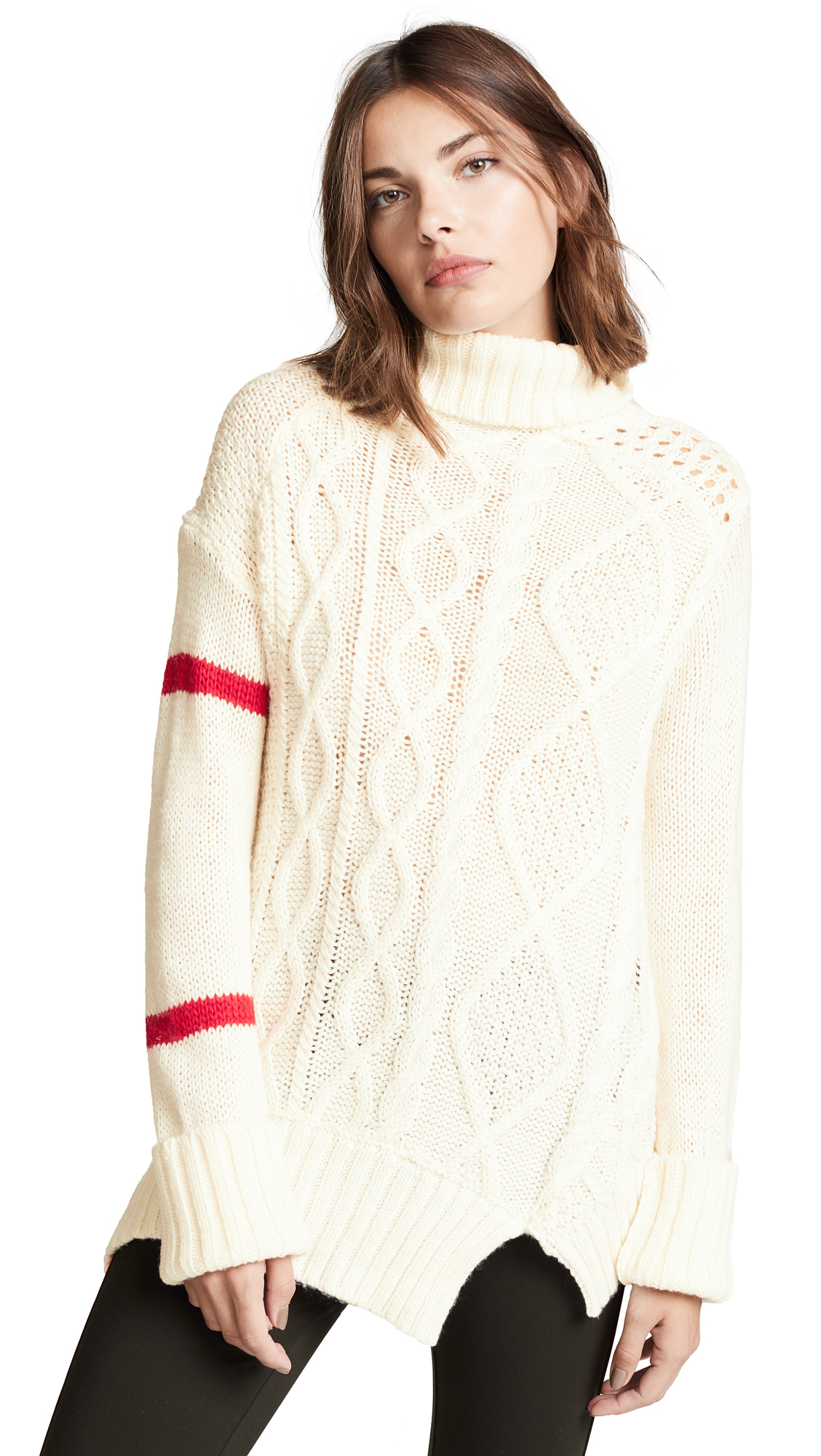 Preen By Thornton Bregazzi Preen Line Serenity Sweater In Ivory/Red
