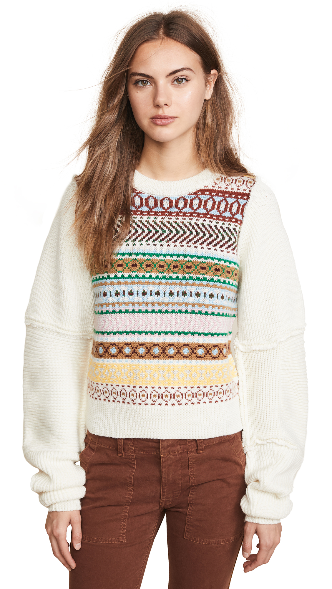 Sia Pullover, Ivory Pastel