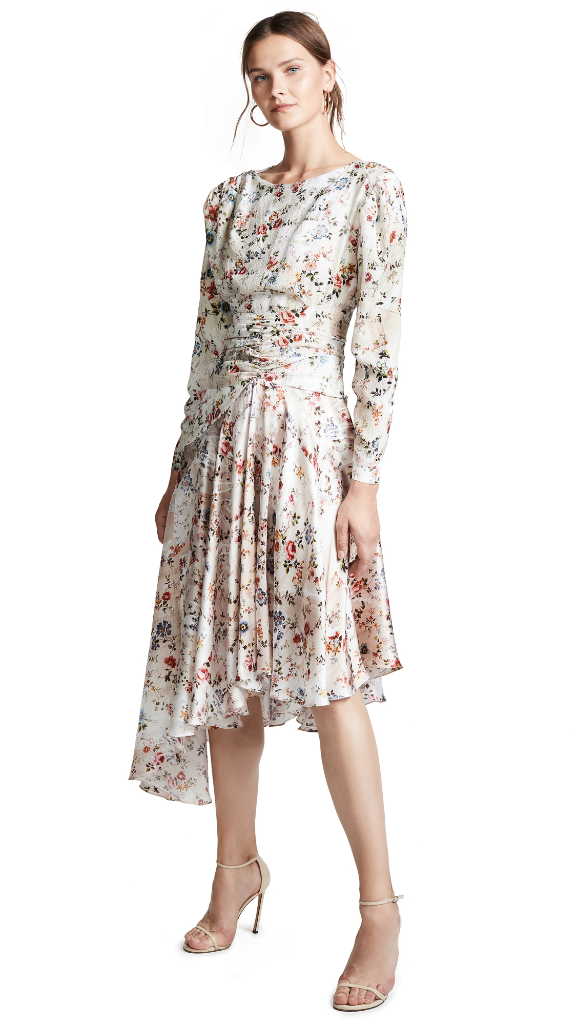 Preen By Thornton Bregazzi Kay Dress In Floral/Off White