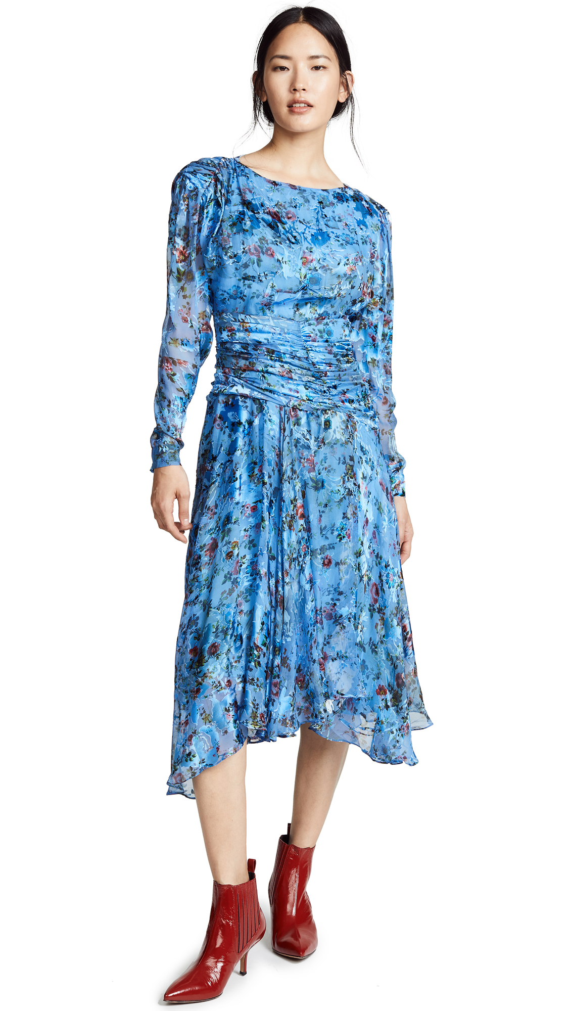 Preen By Thornton Bregazzi Kelsey Dress In Blue Floral