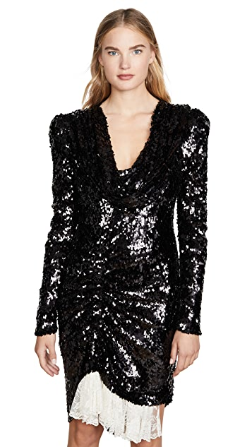 Preen By Thornton Bregazzi Tear Drop Sequin Dress