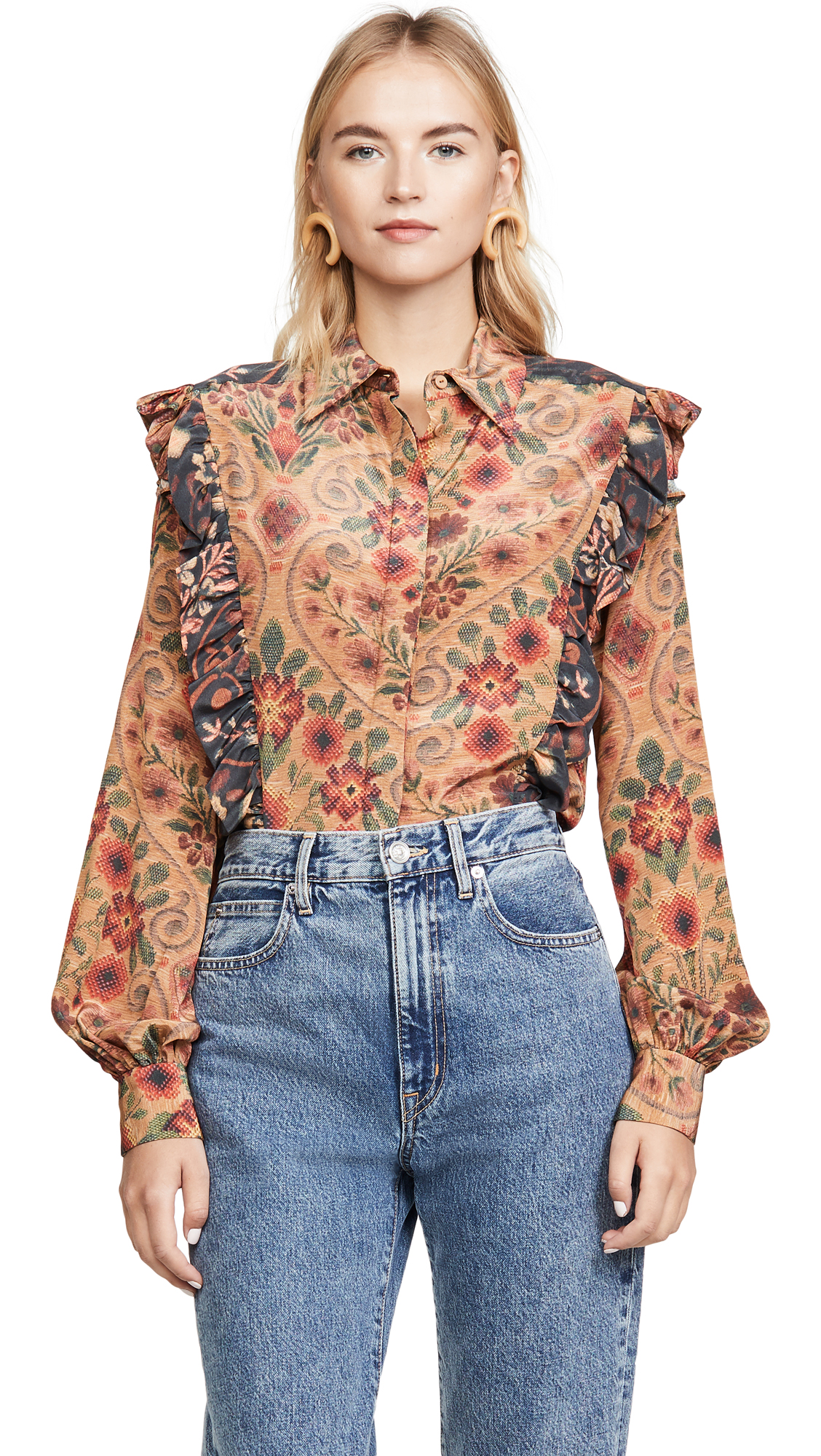 Buy Preen By Thornton Bregazzi online - photo of Preen By Thornton Bregazzi Talitha Blouse
