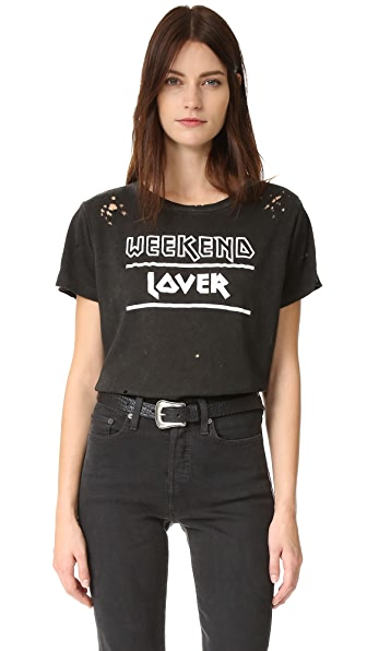 WEEKEND LOVERS CREW TEE