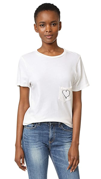 Prince Peter Pocket Heart Print Crew Tee