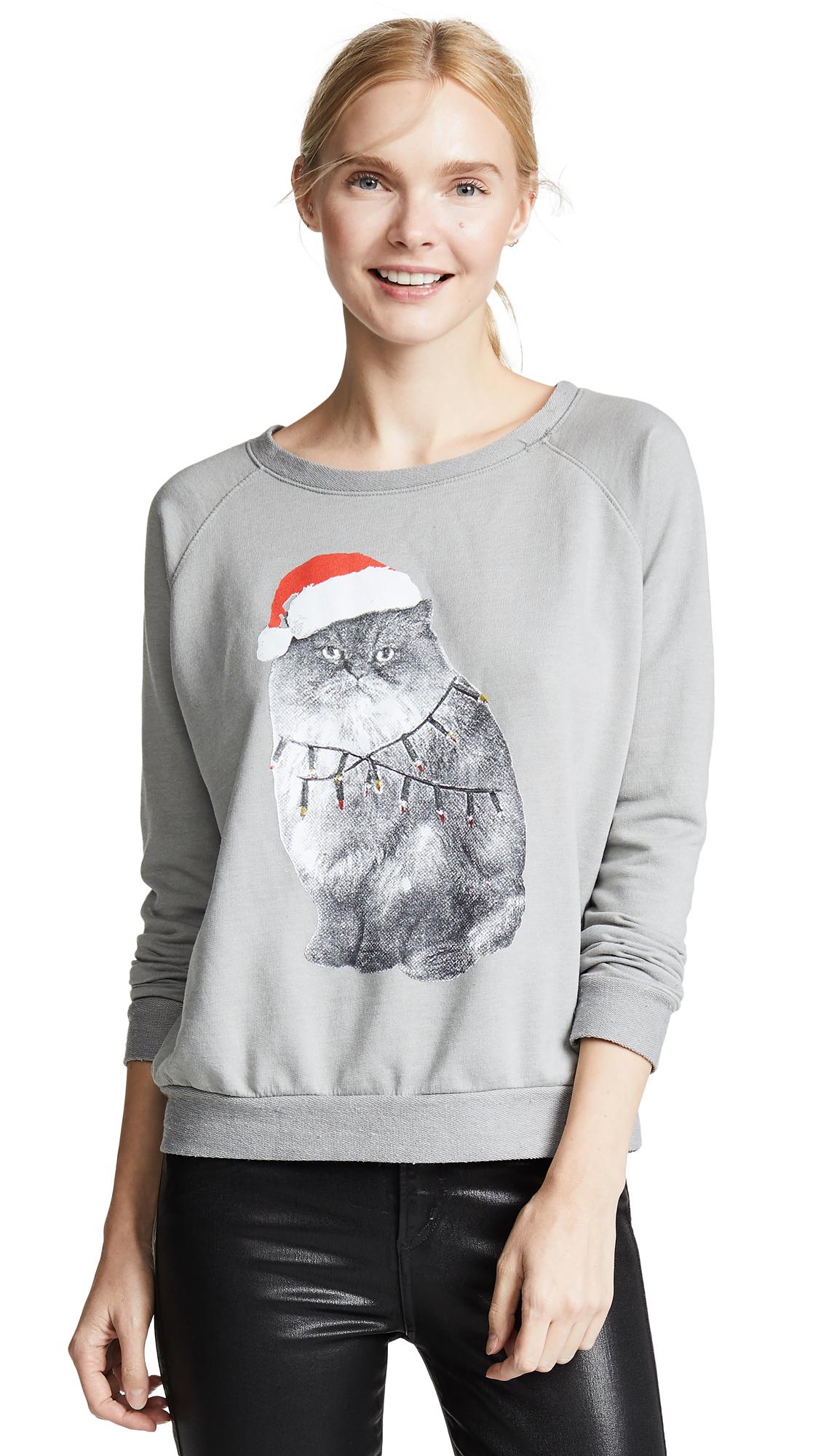 PRINCE PETER Angry Santa Sweatshirt in Grey