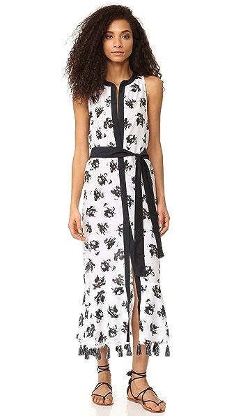 Proenza Schouler Пляжное платье с изображением падающих цветов
