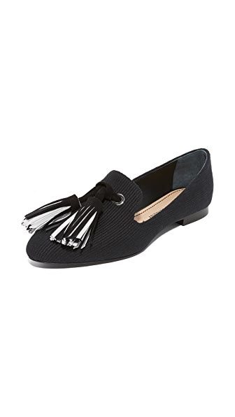 Proenza Schouler Smoking Slippers with Tassels - Black
