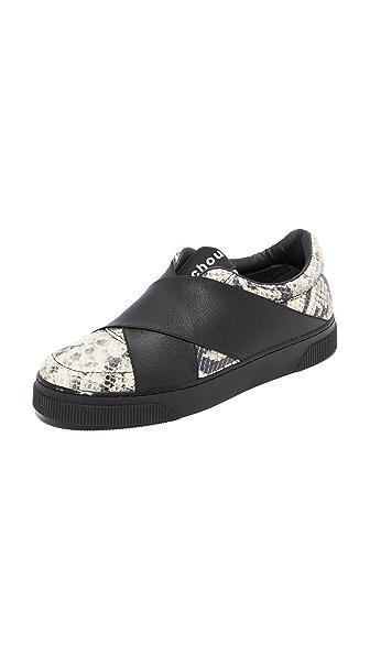 Proenza Schouler Elastic Wrap Sneakers In Black