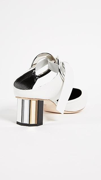 Proenza Schouler Grommet Block Heel Pumps