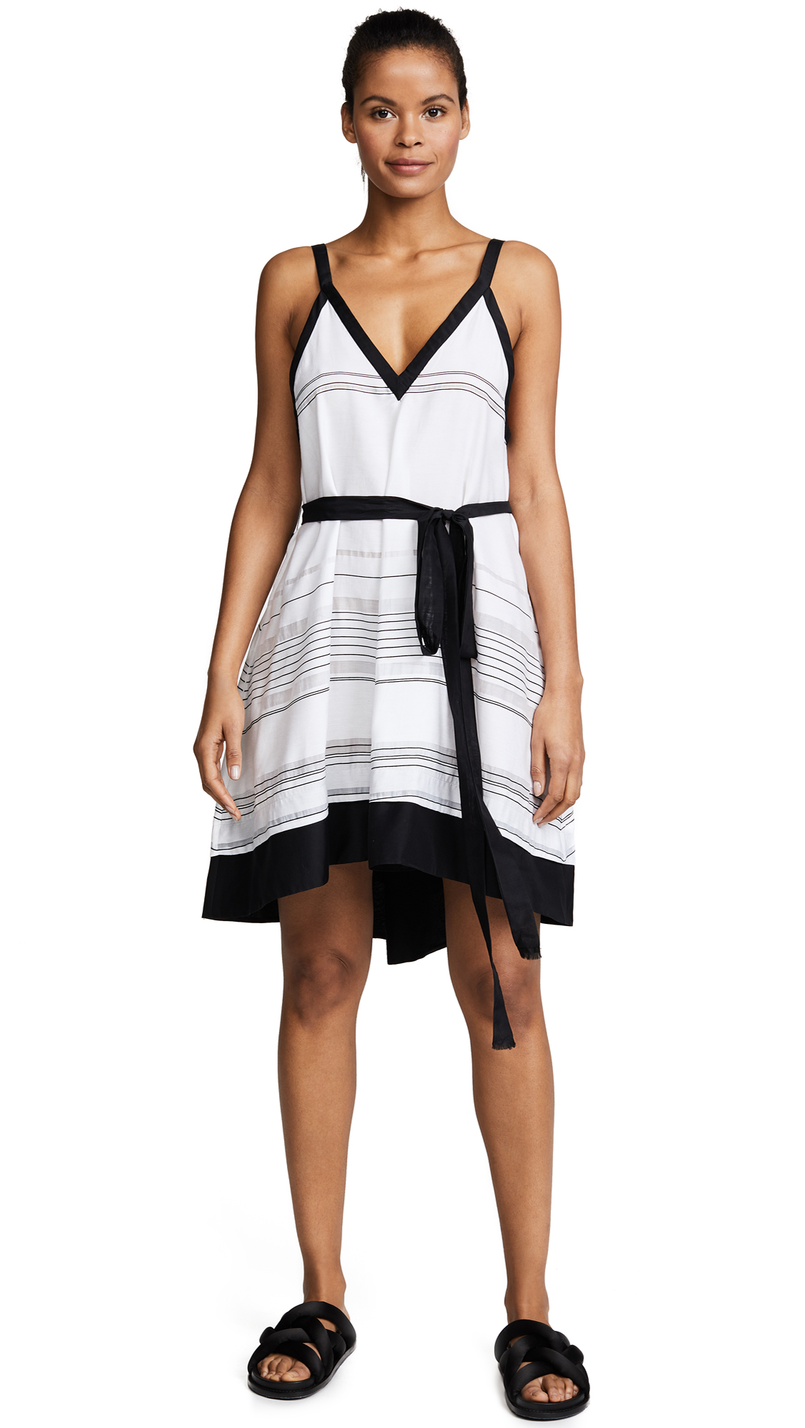 Proenza Schouler Striped Cover Up Dress