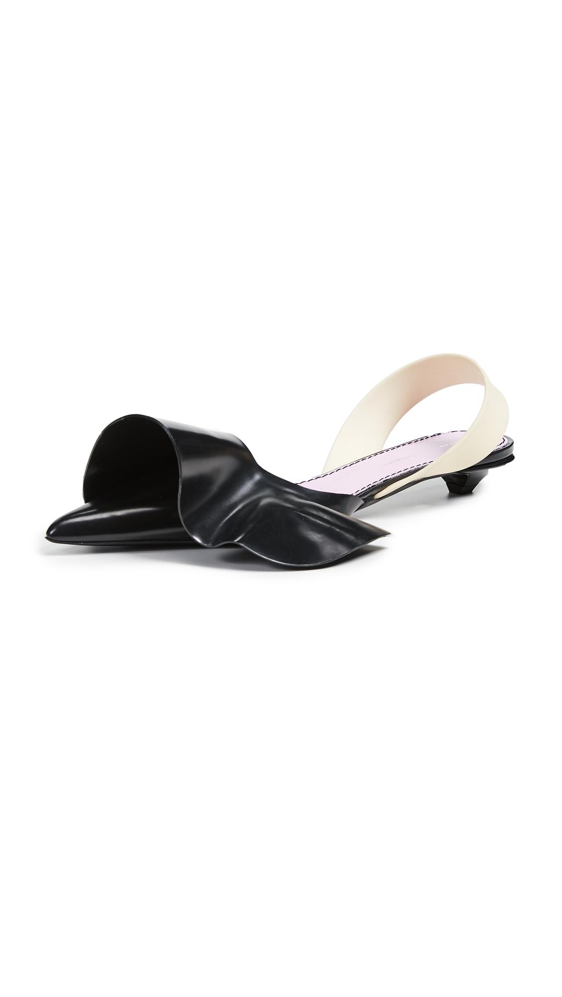 Proenza Schouler Ruffle Kitten Heel Flats