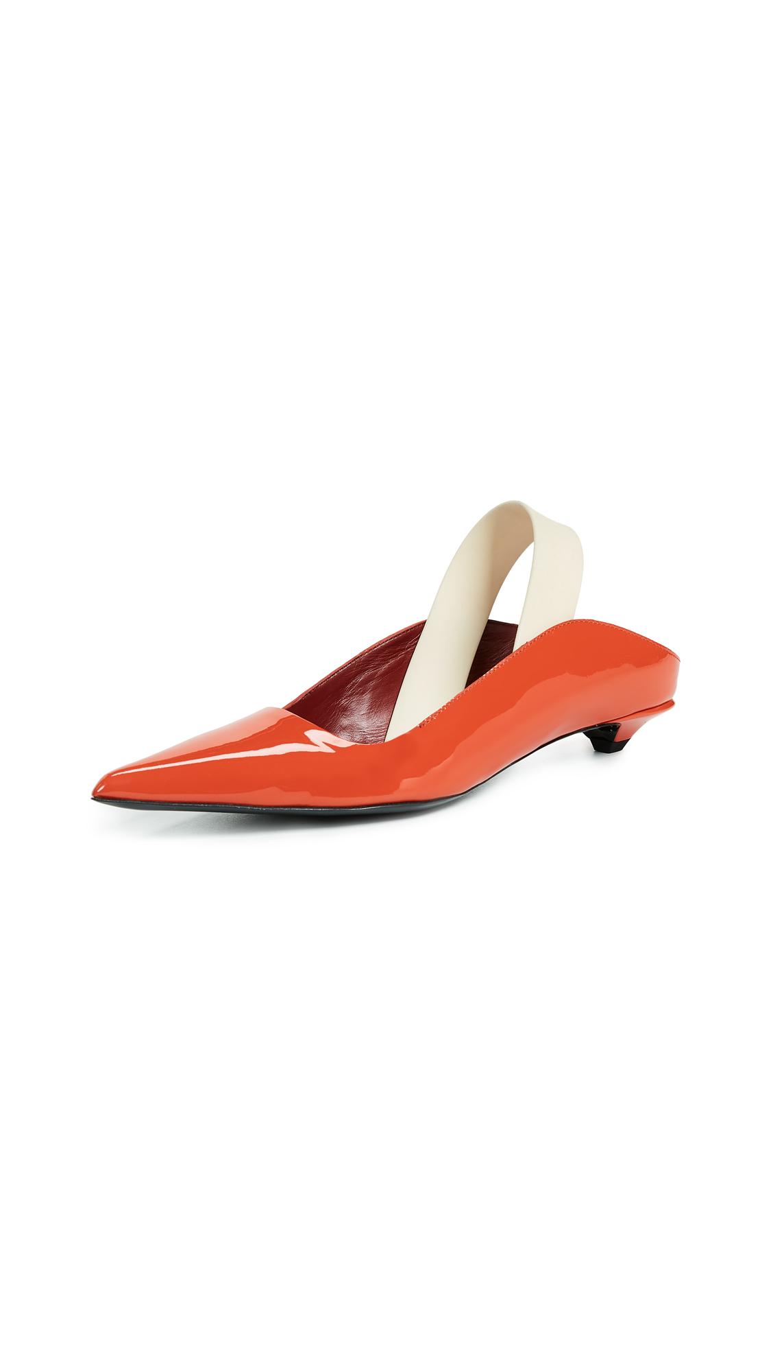 Proenza Schouler Rubber Strap Kitten Heel Flats