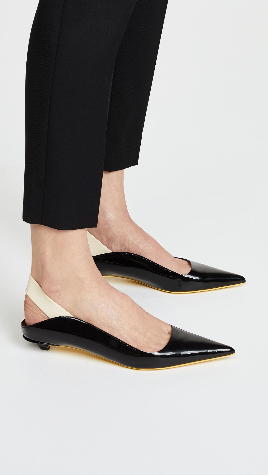63c5275183 Proenza Schouler Rubber Strap Patent Kitten Heel Flats | SHOPBOP