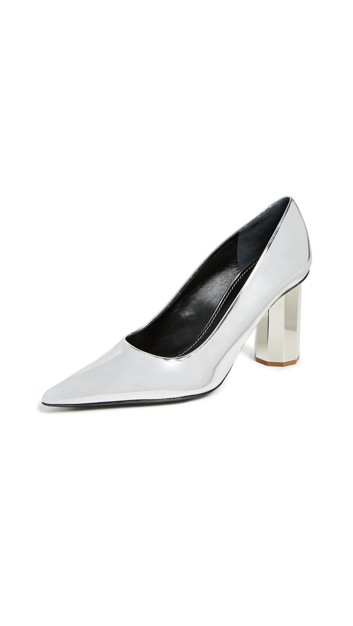Photo of Proenza Schouler Silver Specchio Pumps online shoes sales