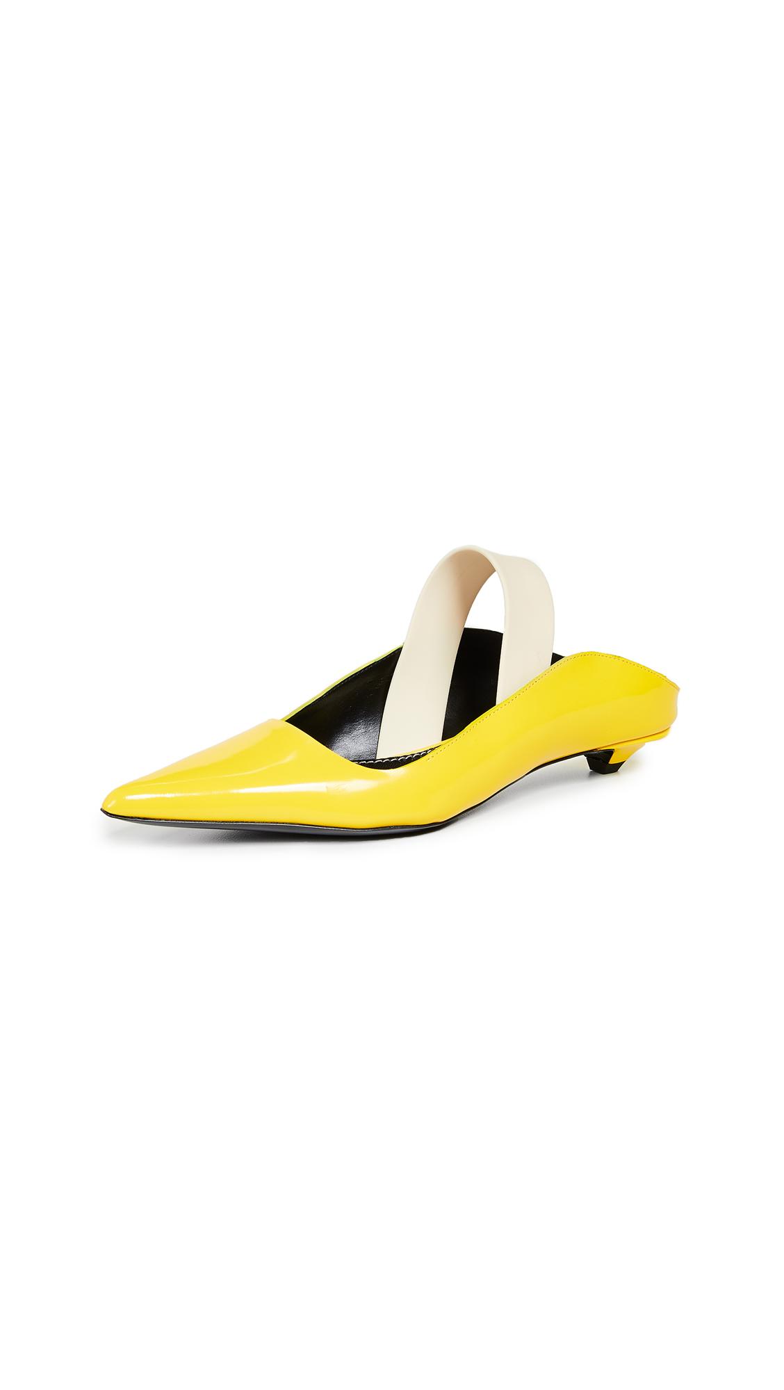 Proenza Schouler Slingback Flats - Yellow