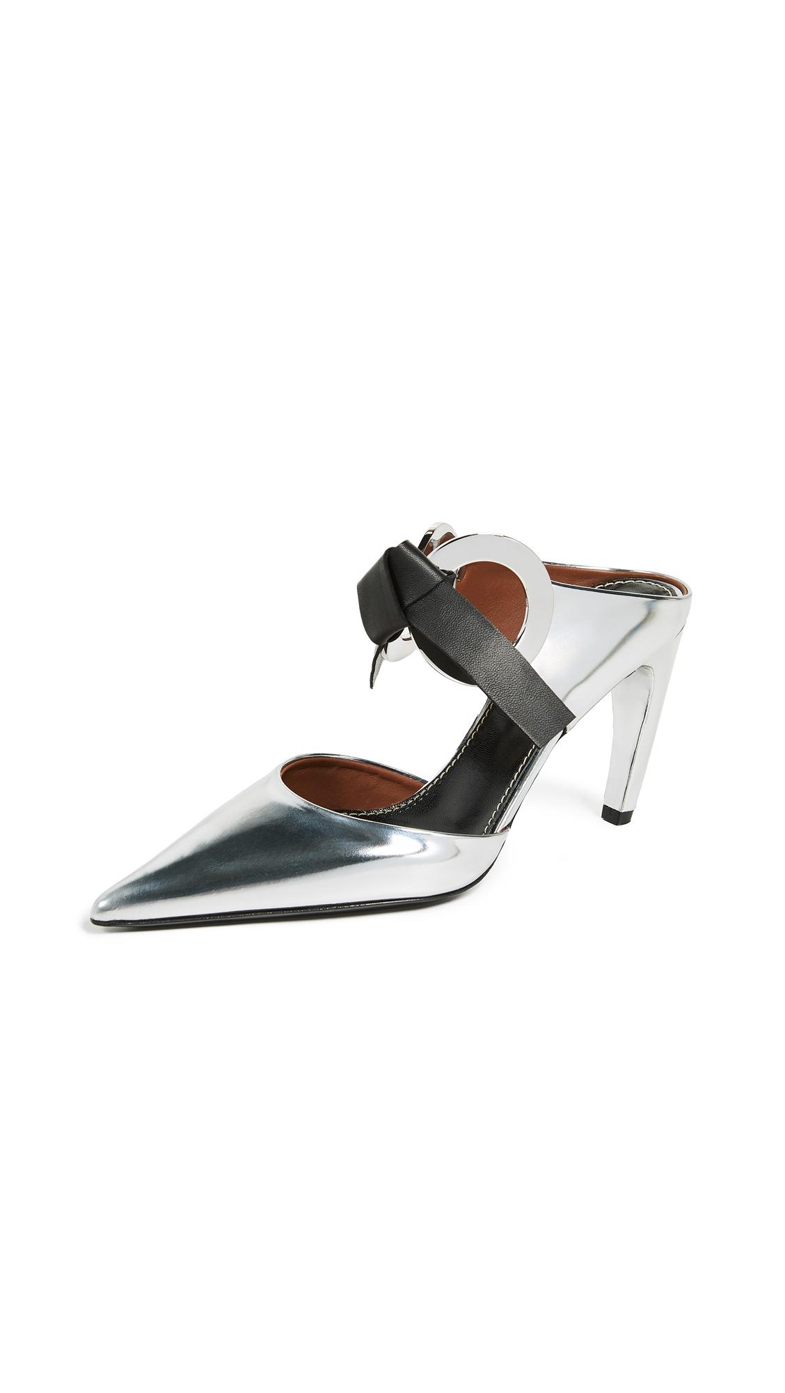 Proenza Schouler Tie High Heel Mules - Silver