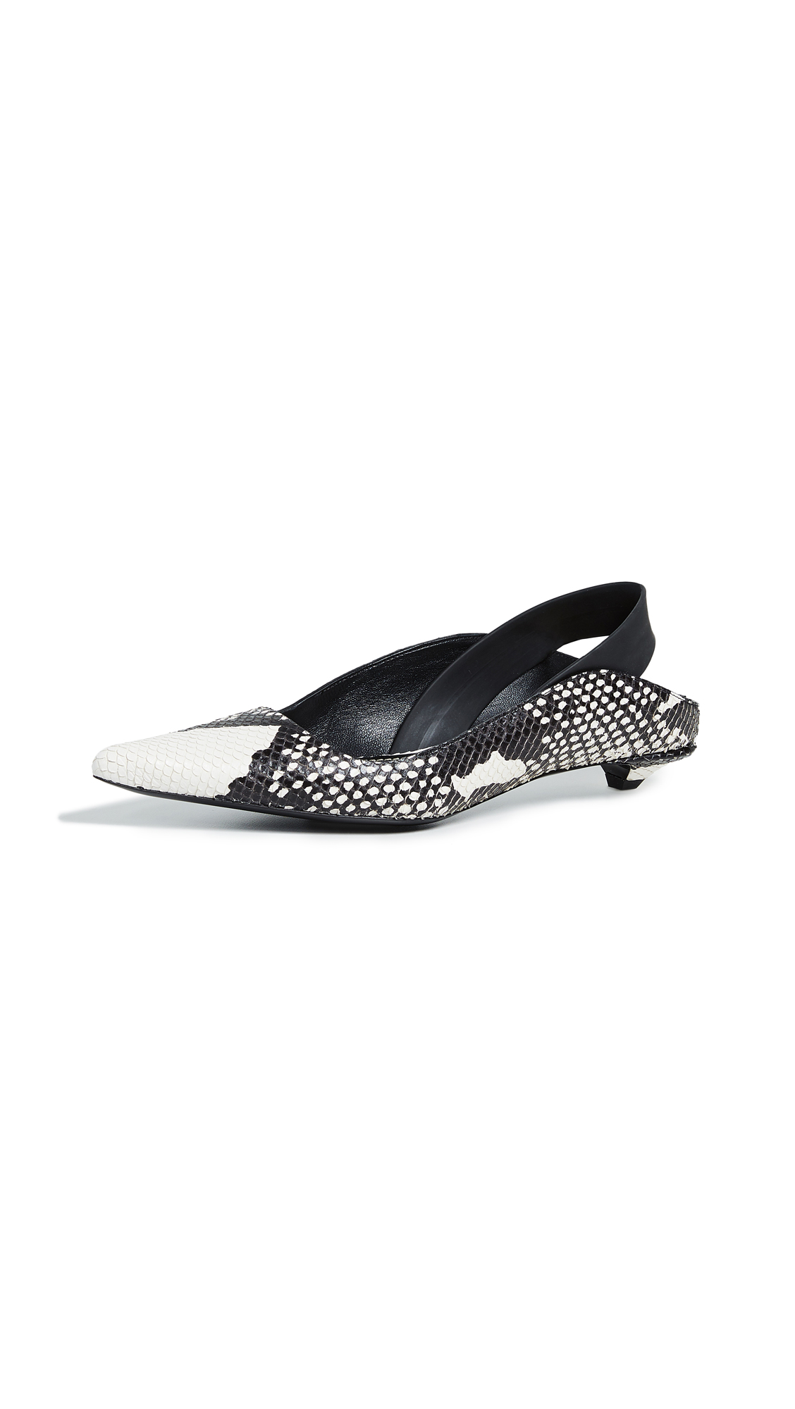 Buy Proenza Schouler online - photo of Proenza Schouler Snake Print Slingbacks