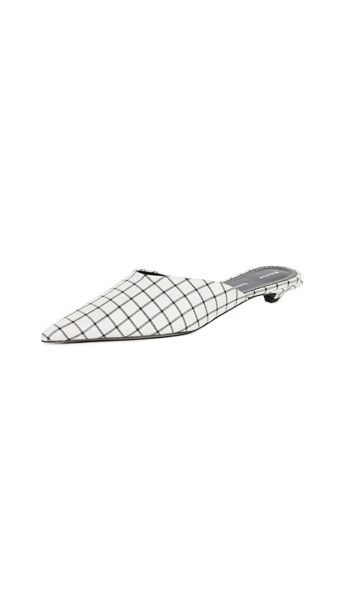Proenza Schouler Grid Mules - 40% Off Sale