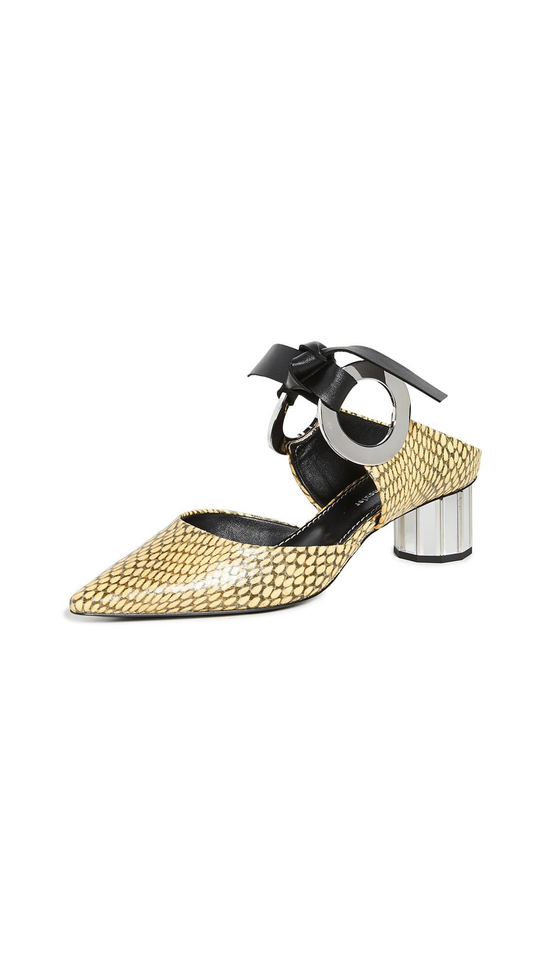 Buy Proenza Schouler Front Tie Mules online, shop Proenza Schouler