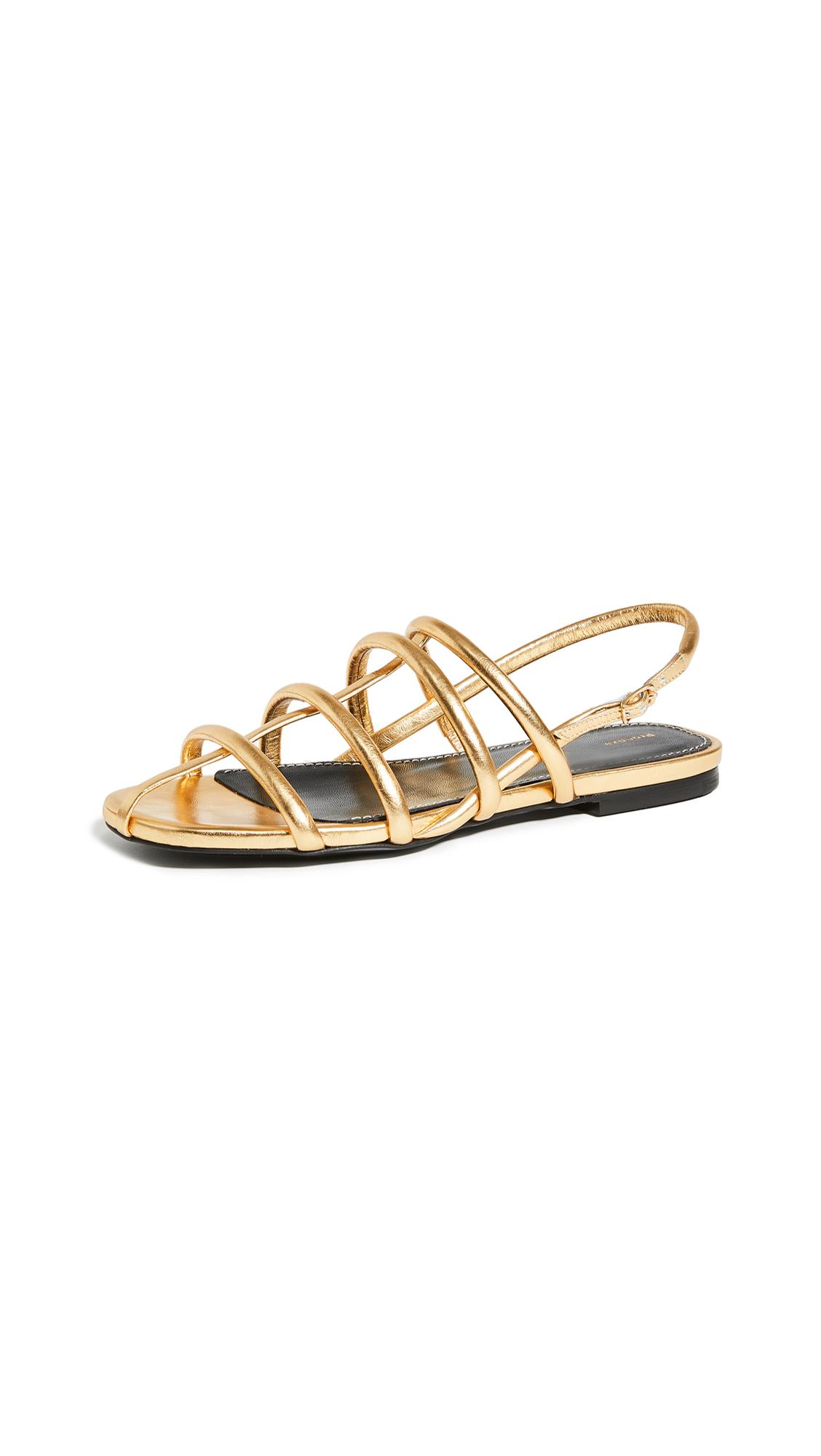 Buy Proenza Schouler Strappy Flat Sandals online, shop Proenza Schouler