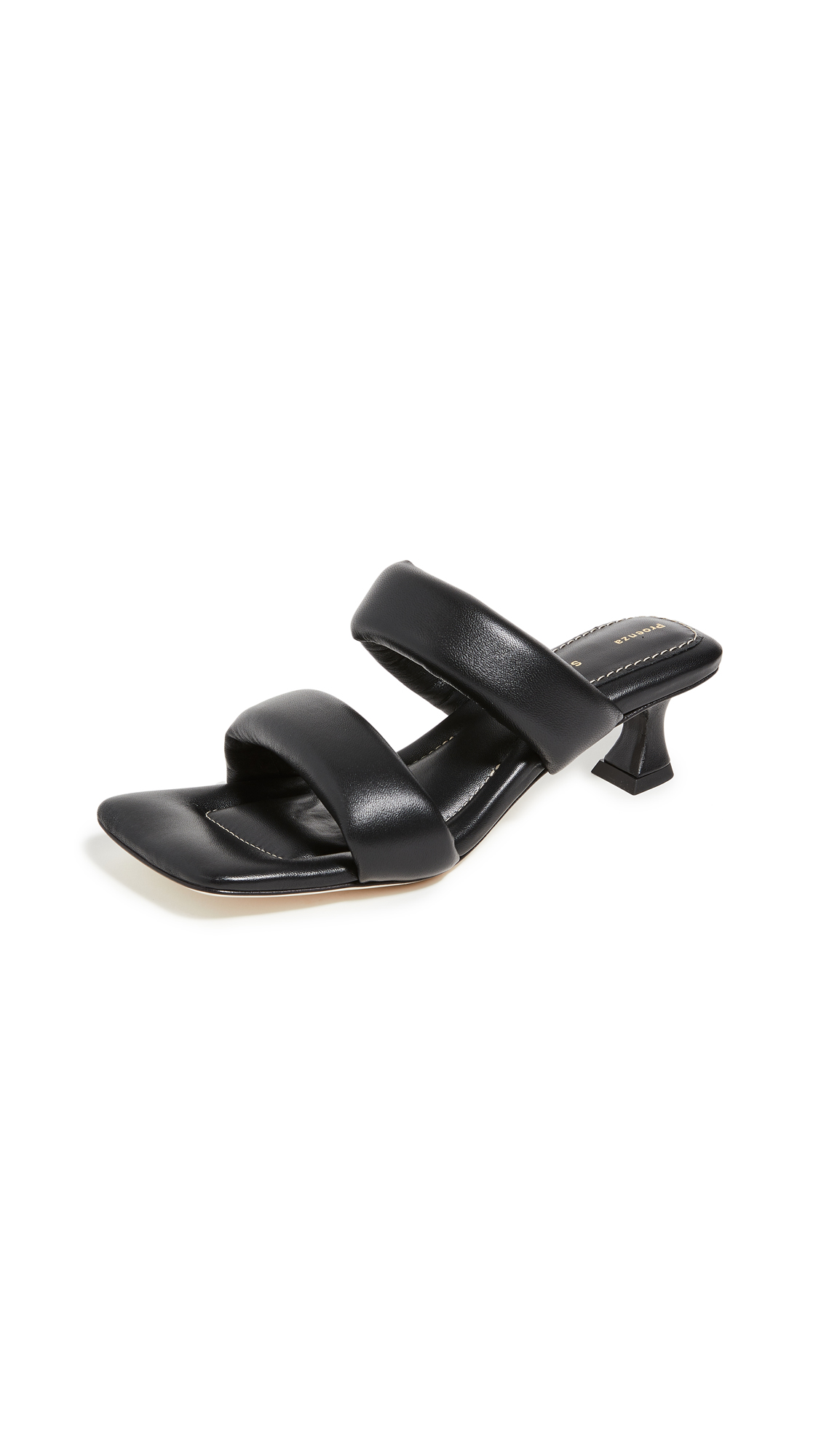 Proenza Schouler DOUBLE BAND SQUARE TOE SLIDES