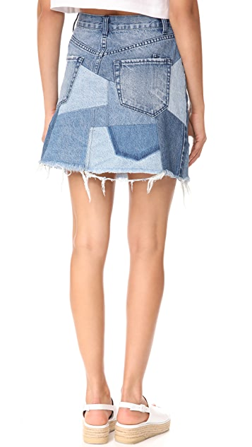 PRPS Patchwork Skirt