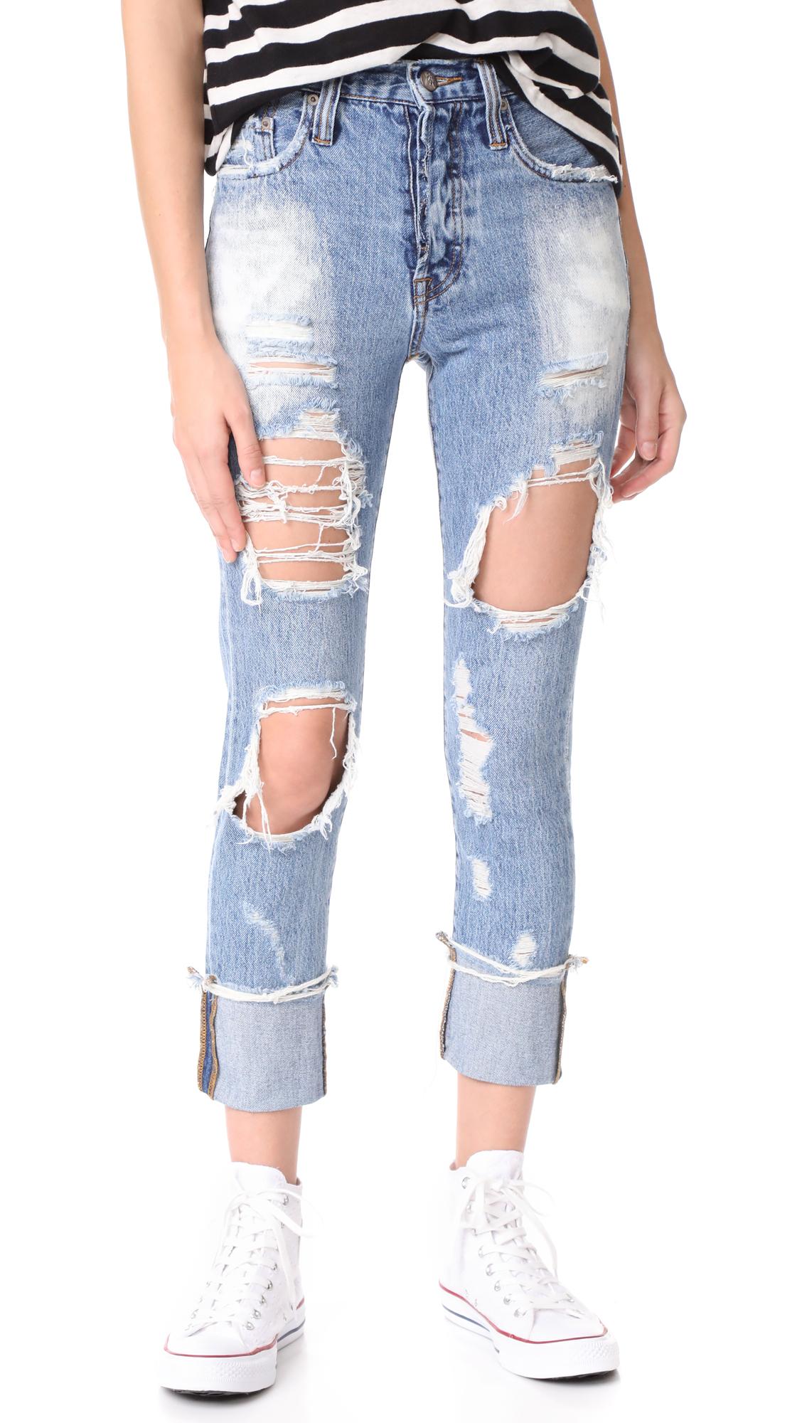 PRPS Amx High Waist Boyfriend Jeans
