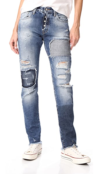 PRPS El Camino Reworked Boyfriend Jeans In Indigo Wash