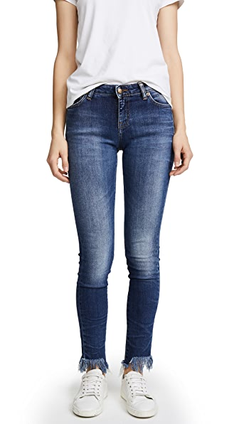 PRPS Camaro Step Hem Skinny Jeans In Vintage Blue